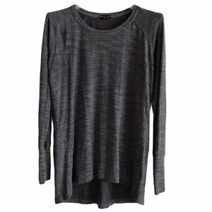 Champion High Low Long Sleeve Gray Pullover L